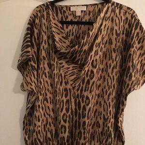 Leopard silky top